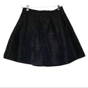 Soprano Black Skirt with Gold Dots Sz- Medium